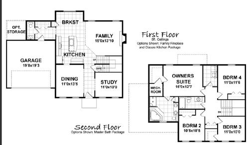 Floorplans for New Homes at Keystone Communities