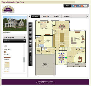 Keystone custom homes announces new interactive floor for Interactive home plans