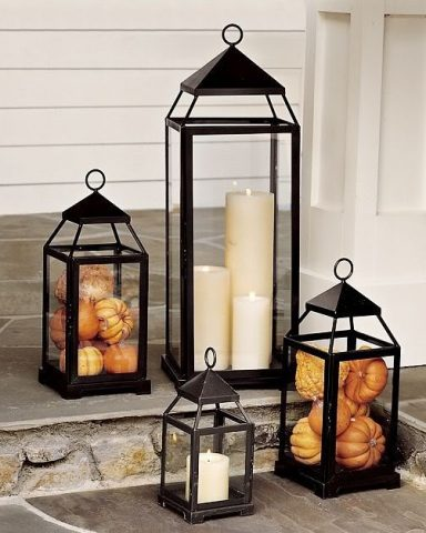 Lantern Thanksgiving Centerpiece