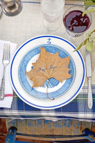 Leaf Thanksgiving Place Card
