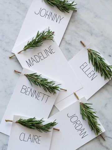 Rosemary Place Cards For Thanksgiving